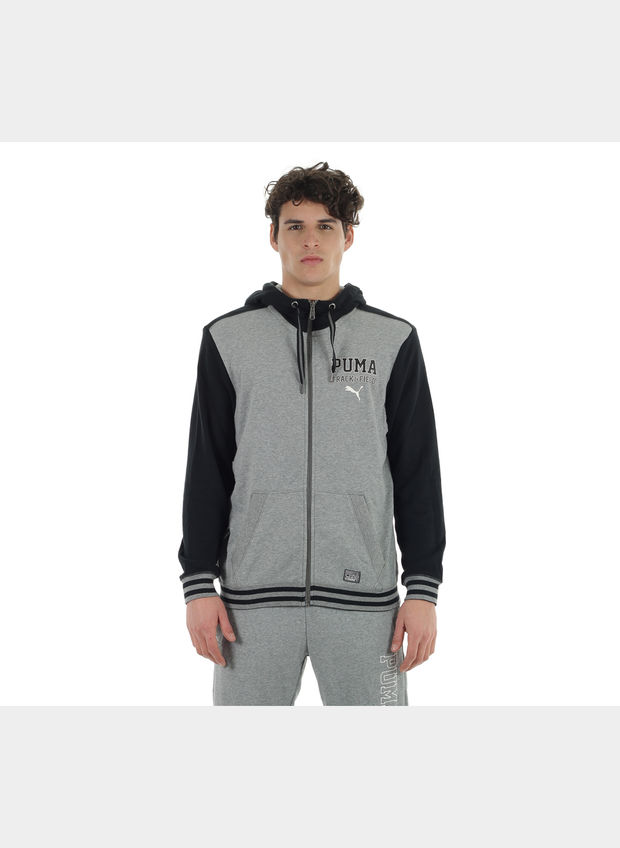 FELPA ATHLETIC HD SWEAT JACKET TR UOMO, 001BLKGREY, large