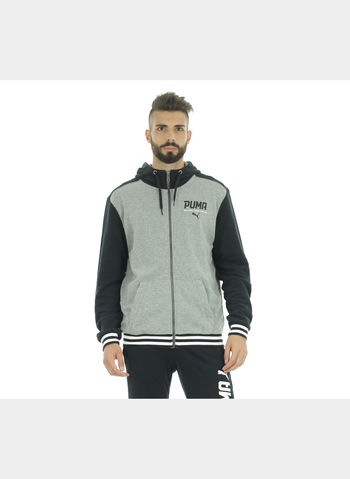 TUTA SPORTIVA FULL ZIP UOMO, 001BLK, small