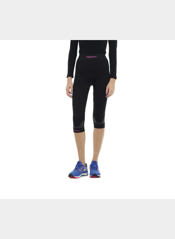 PANTALONE CAPRI KEEPFIT ANTICELLULITE , BLK, medium