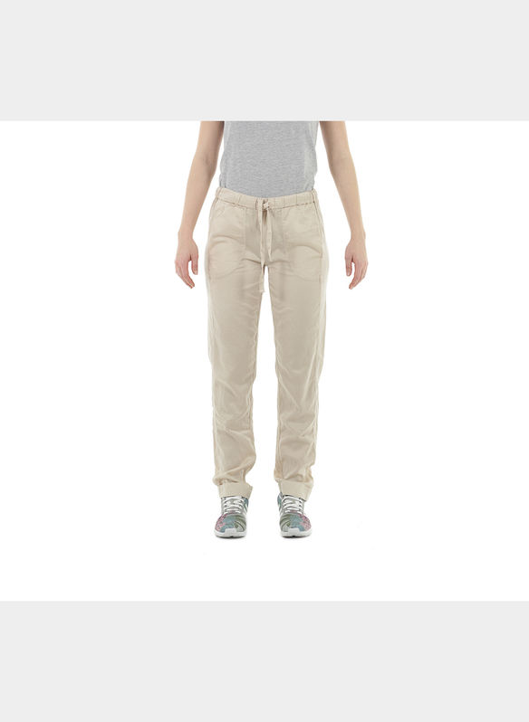 PANTALONE EASY SATEN RISVOLTO , 16023SABBIA, medium