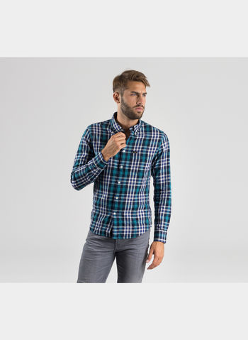 CAMICIA SLIM BUTTON DOWN., 13GREEN, small