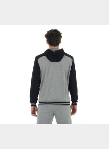 FELPA ATHLETIC HD SWEAT JACKET TR UOMO, 001BLKGREY, small