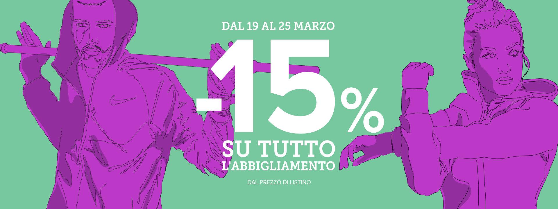 ABBIGLIAMENTO -15%