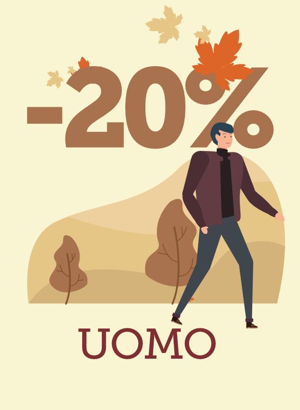 20% sulla collezione Autunno/Inverno