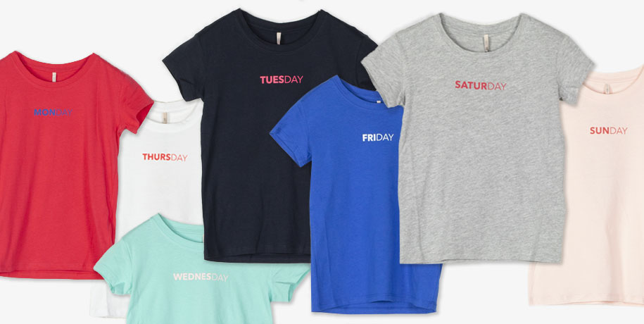 t-shirt week day