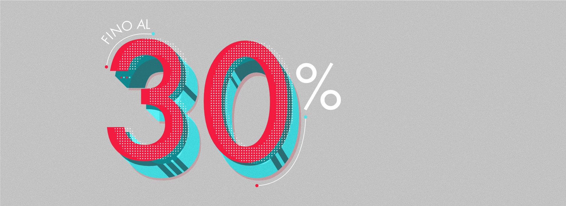 30% di sconto su abbigliamento uomo donna bambino