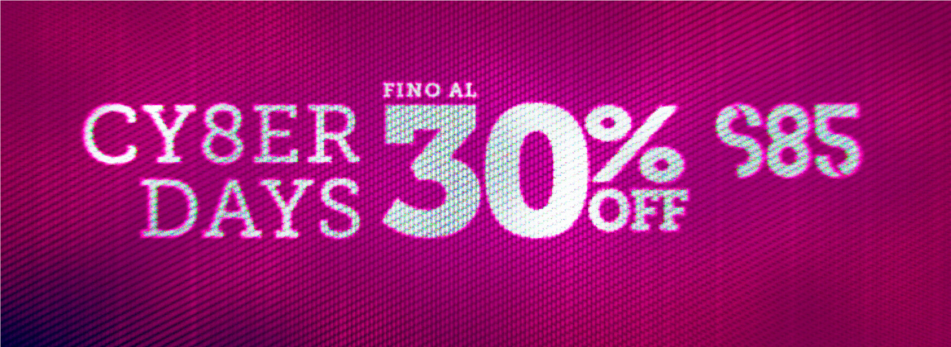 Cyber Days - Promo Fino al 30% sulla collezione Autunno/Inverno
