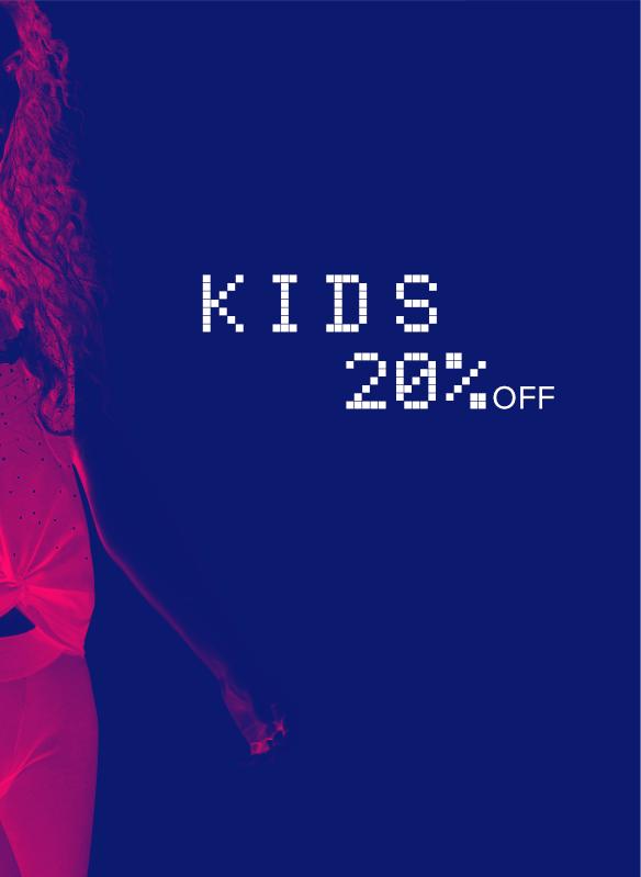 Promo -20% su abbigliamento uomo donna bambino