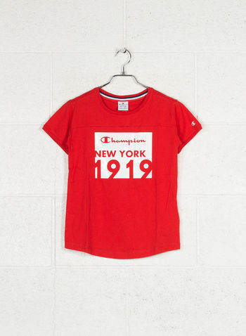 T-SHIRT MAXI STAMPA AMERICAN CLASSIC RAGAZZA, RS041 RED, small