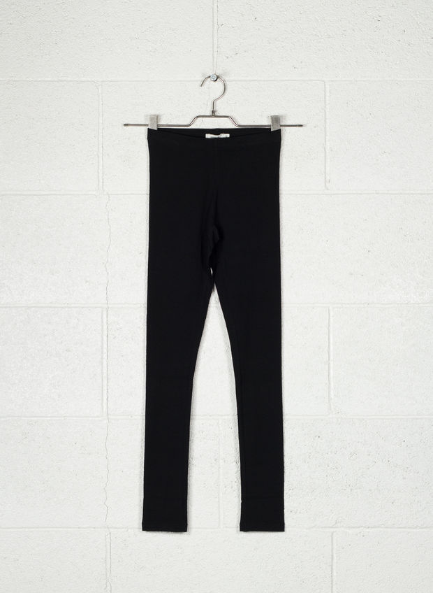 LEGGINGS BASIC RAGAZZA, BLK, large