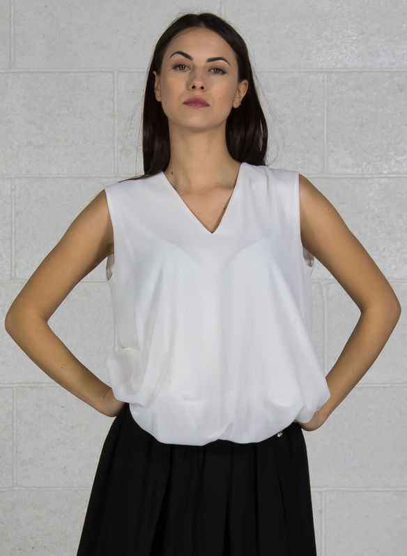 BLUSA GIROMANICA, BIANCO, medium