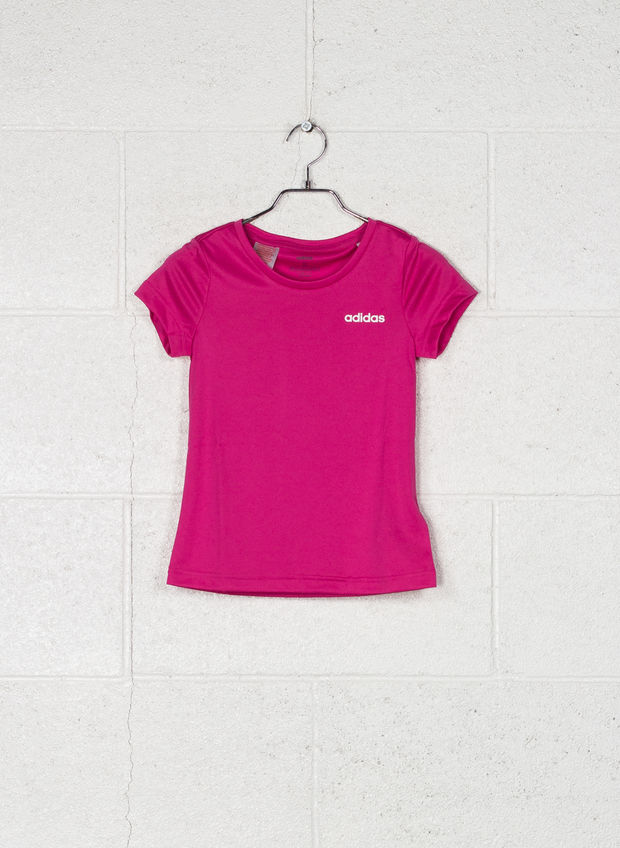 T-SHIRT LINEAR CLIMALITE RAGAZZA, FUXIA, large