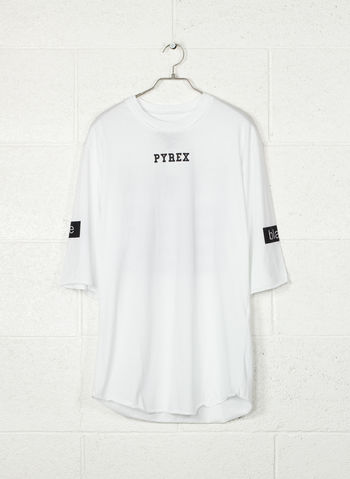 T-SHIRT 3/4 OVER, BIANCO, small