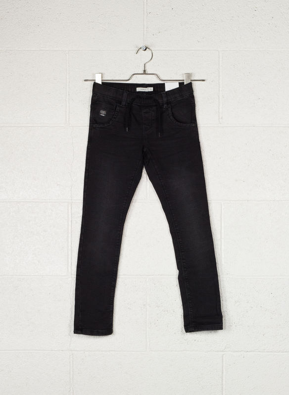 JEANS 5T STRETCH RAGAZZO, BLK, medium