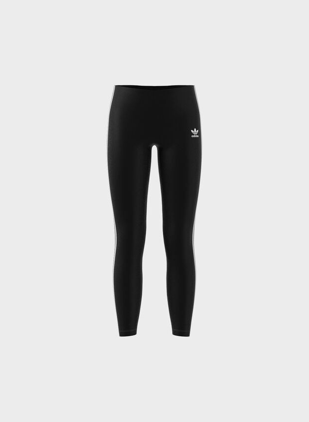 LEGGINGS 3-STRIPES RAGAZZA, BLK, large