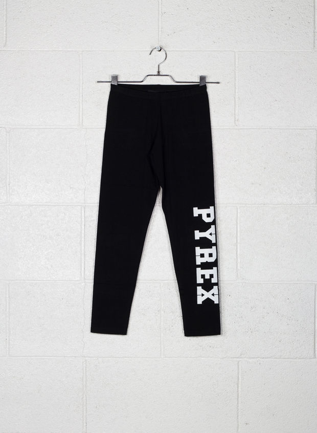 LEGGINS BIG LOGO, NERO, large