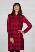 CAMICIA OLEAN, BLKRED, thumb