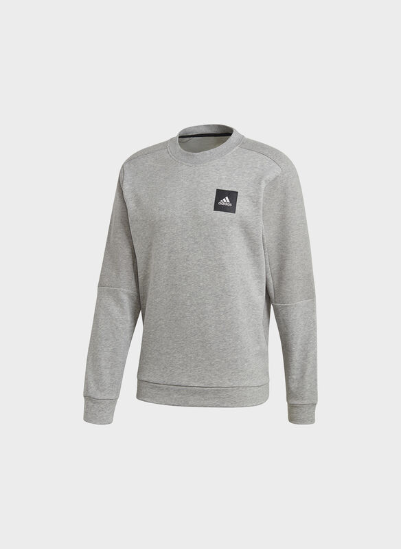 FELPA MUST HAVES CREW, GREY, medium
