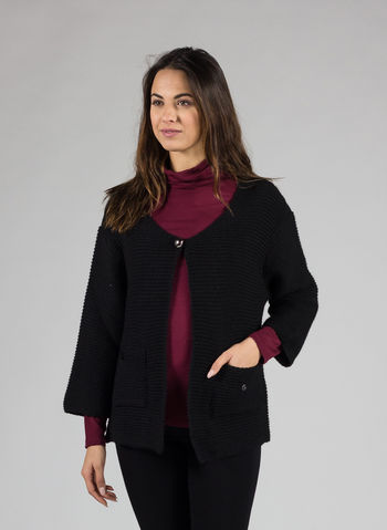 CARDIGAN CON BOTTONE, NERO, small