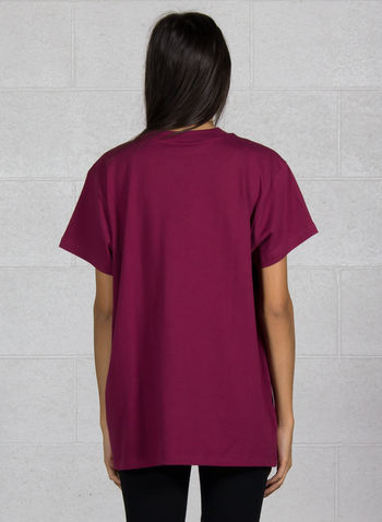 T-SHIRT ORIGINAL OVERSIZE LOGO, BORDEAUX, small