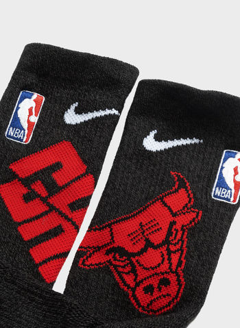 CALZE BASKET ELITE CREW CHICAGO BULLS, 010BLK, small