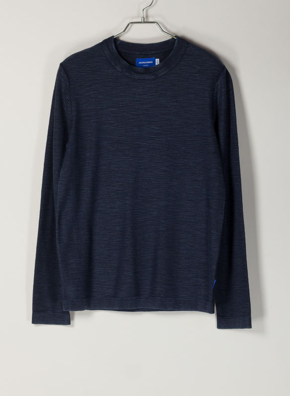 MAGLIONE SHOOTER COTONE GIRO, NVY, medium