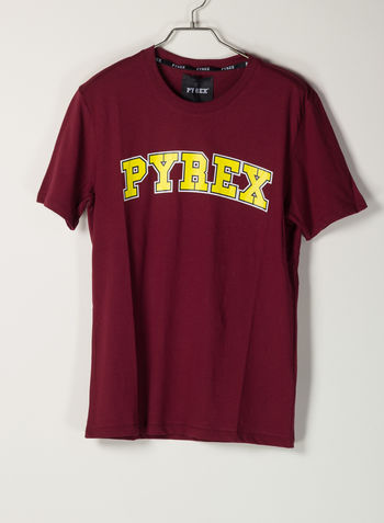 T-SHIRT LOGO, BORDEAUX, small