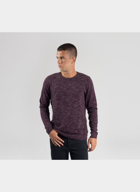 MAGLIONE GIRO MELANGE , PORT ROYAL, medium