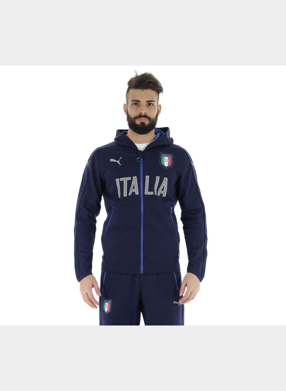 hot sales 55933 4758e FELPA CON CAPPUCCIO E ZIP INTEGRALE ITALIA CASUAL ...