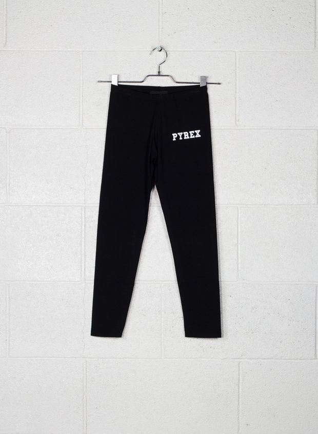 LEGGINGS SMALL LOGO, NERO, large
