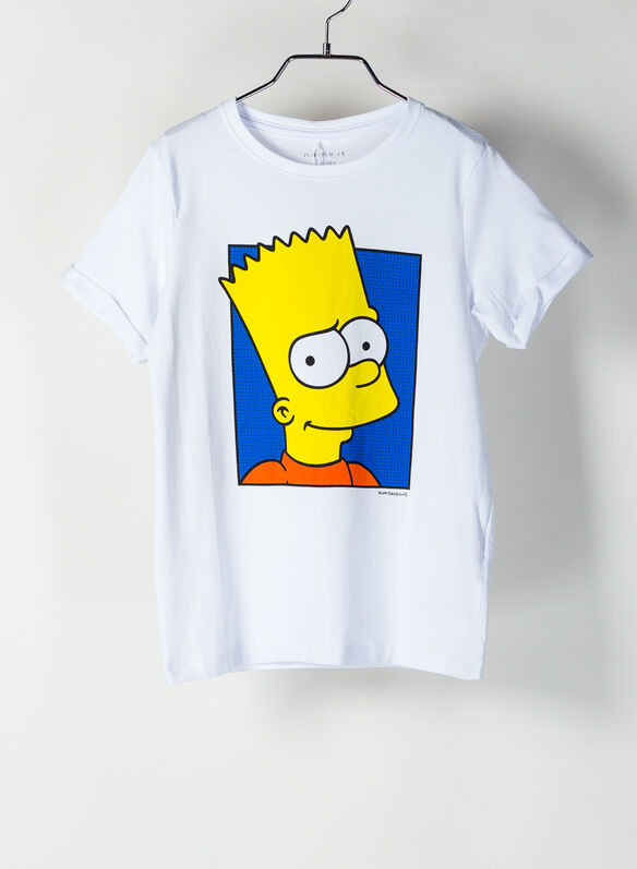 T-SHIRT STAMPA SIMPSON RAGAZZO, BRIGHTWHT, medium