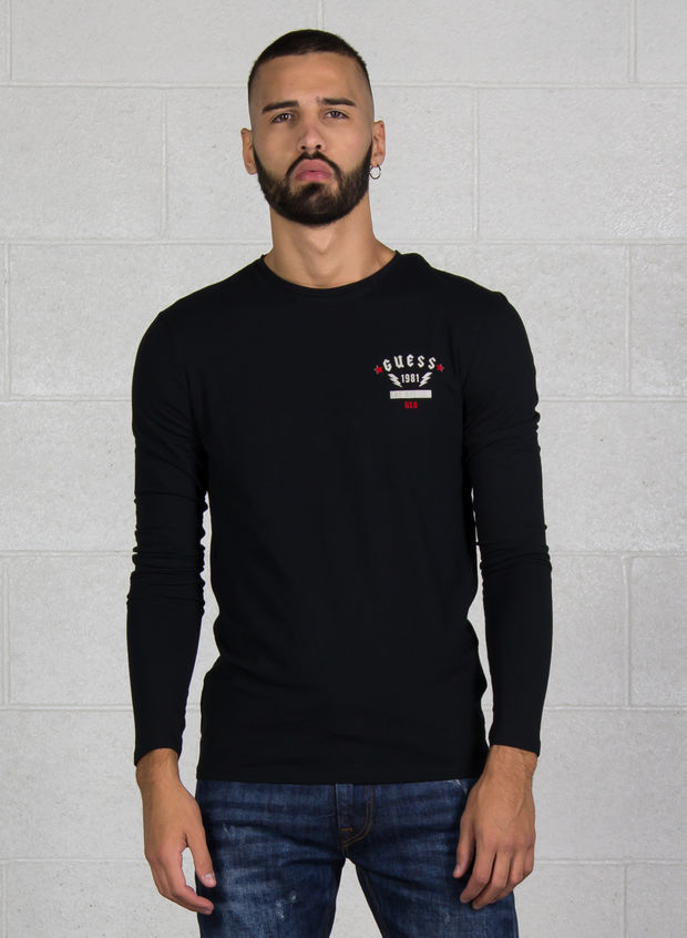 T-SHIRT MICRO LOGO STRETCH, JBLK BLK, large