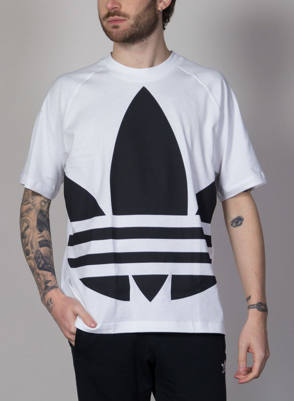 T-SHIRT BIG TREFOIL BOXY, WHTBLK, medium