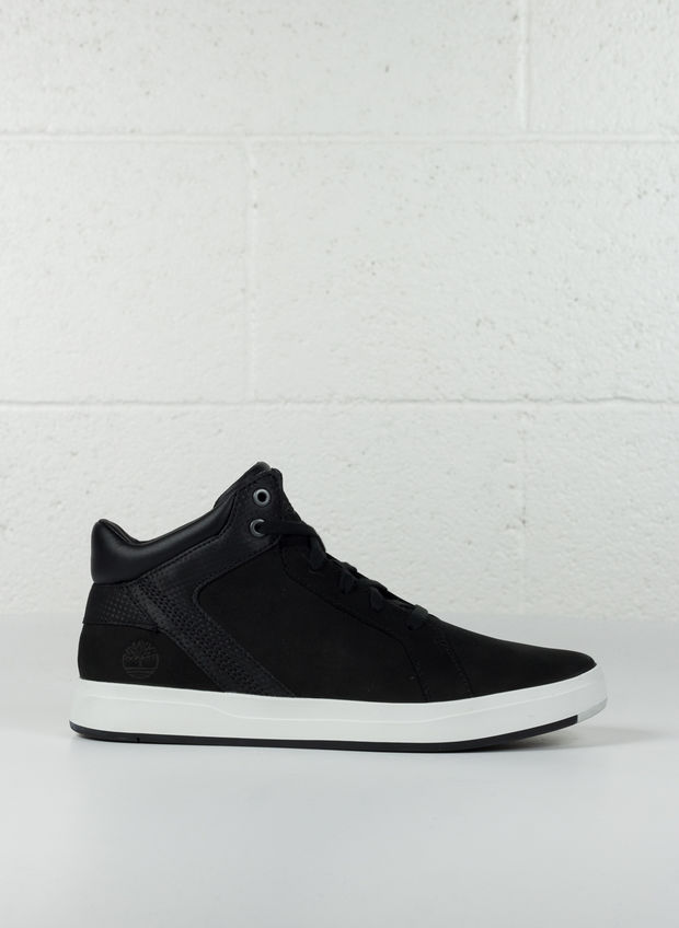 SCARPA CHUKKA IN PELLE DAVIS SQUARE NERO, , large