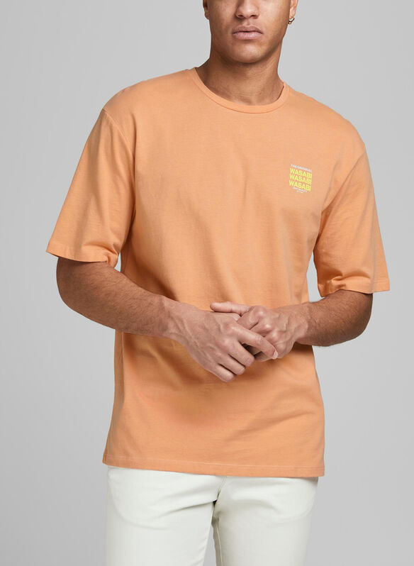 T-SHIRT STAMPA MINI, CORAL, medium