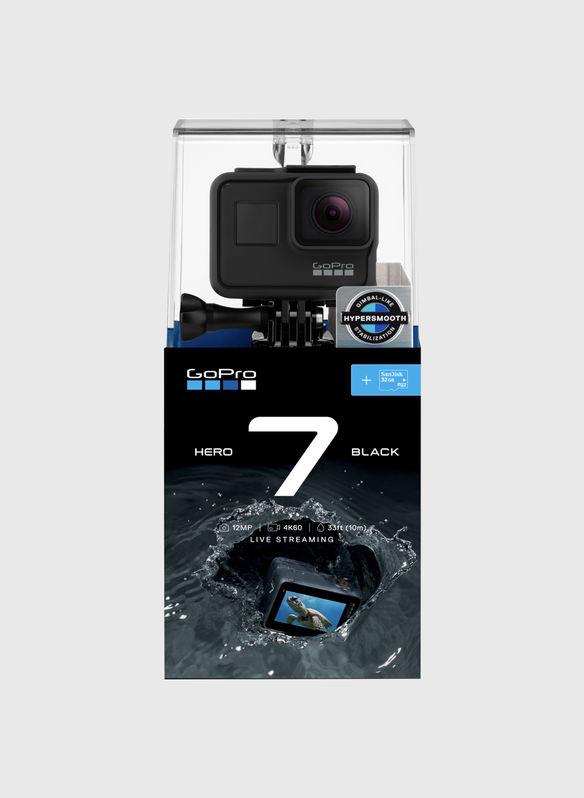 TELECAMERA GOPRO HERO7 BLACK + MICRO SD 32GB, BLACK, medium