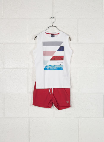 COMPLETINO BACK TO BEACH RAGAZZO, WW001 WHTRED, small