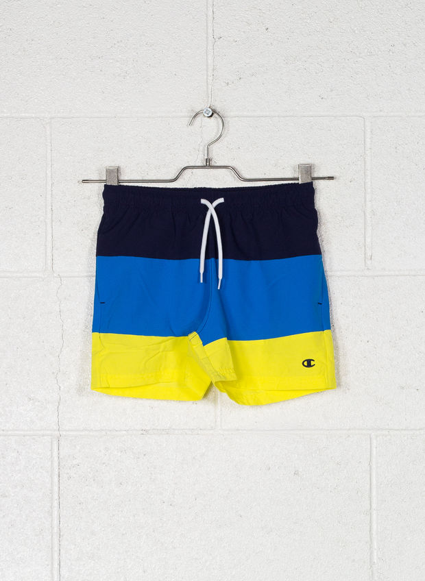 SHORTS BICOLOR RAGAZZO, BS536 NVY, large