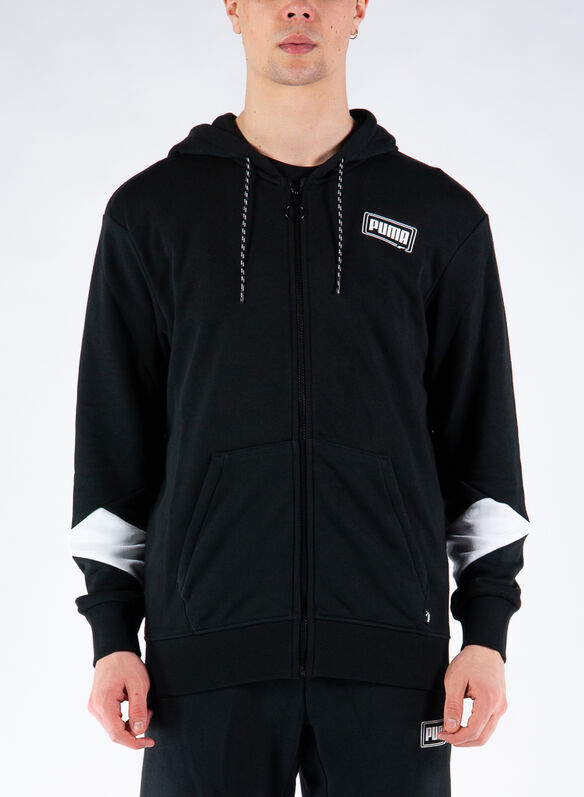 FELPA FD REBEL FULL ZIP, 01BLK, medium