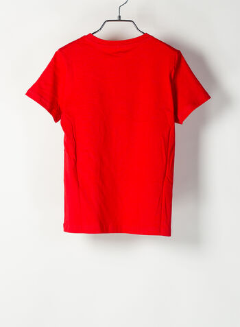 T-SHIRT ALPHA GRAPHIC RAGAZZO, 11RED, small