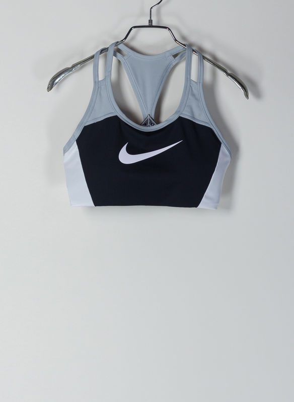 BRA SWOOSH, 011BLKWHT, medium