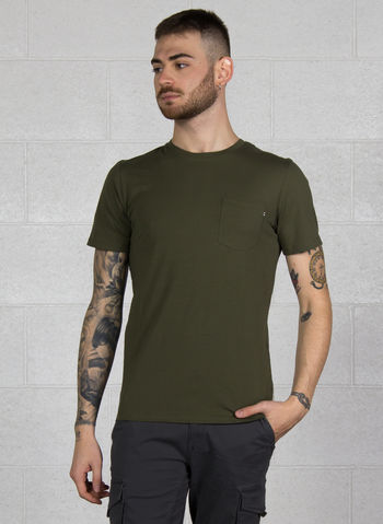 T-SHIRT POCKET, OLIVE, small