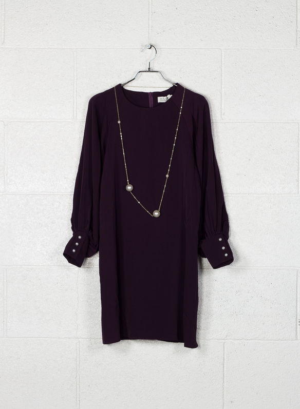 ABITO + COLLANA PERLE, PURPLE, medium