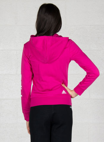 FELPA CON CAPPUCCIO ESSENTIALS LINEAR FULL ZIP, FUXIA, small