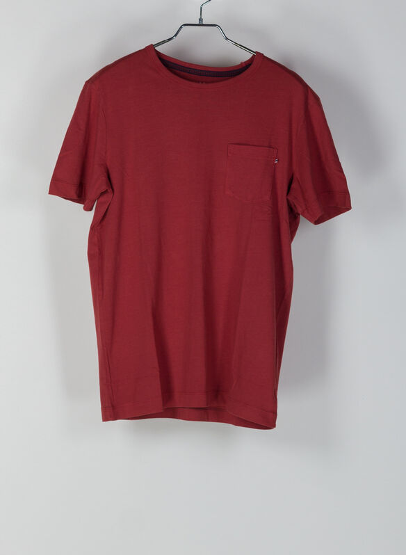 T-SHIRT WASH, RED, medium