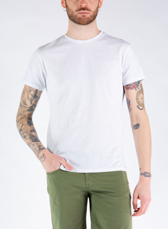 T-SHIRT TINTA UNITA, 101WHT, medium