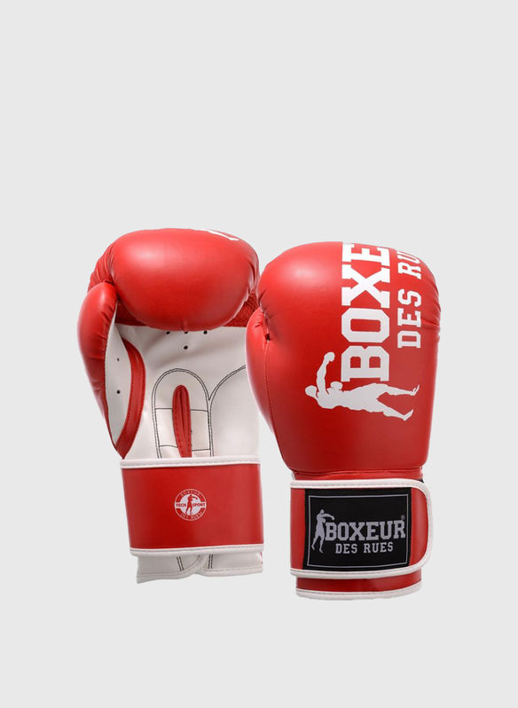 GUANTO BOXE IMPACT 8OZ, RED, medium