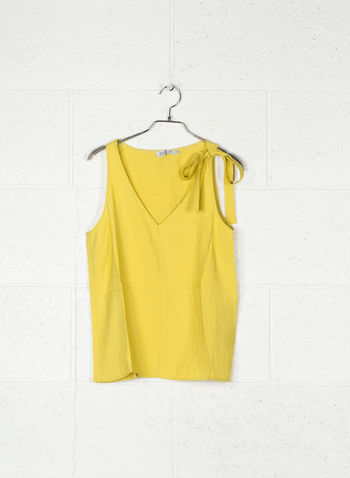 TOP SPALLINA CON FIOCCO, SAFFRON YELLOW, small