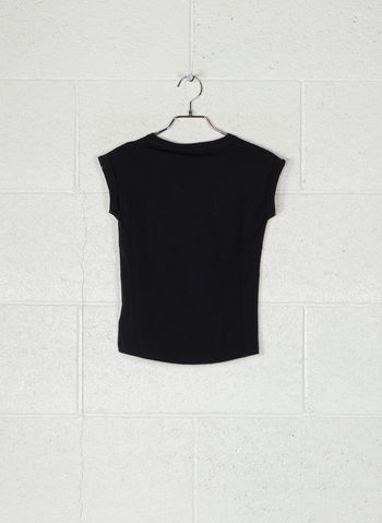 T-SHIRT BASIC RAGAZZA, BLK, small