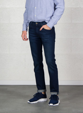 JEANS DAREN REGULAR SLIM, INJ SCURO LAVATO, small